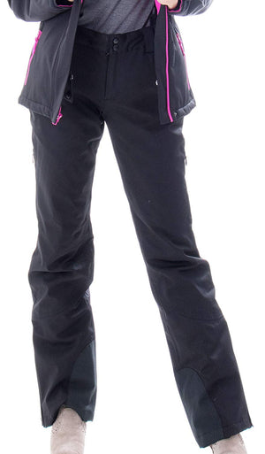 Andorra Women's Performance Insulated Cargo Ski Pants - Black