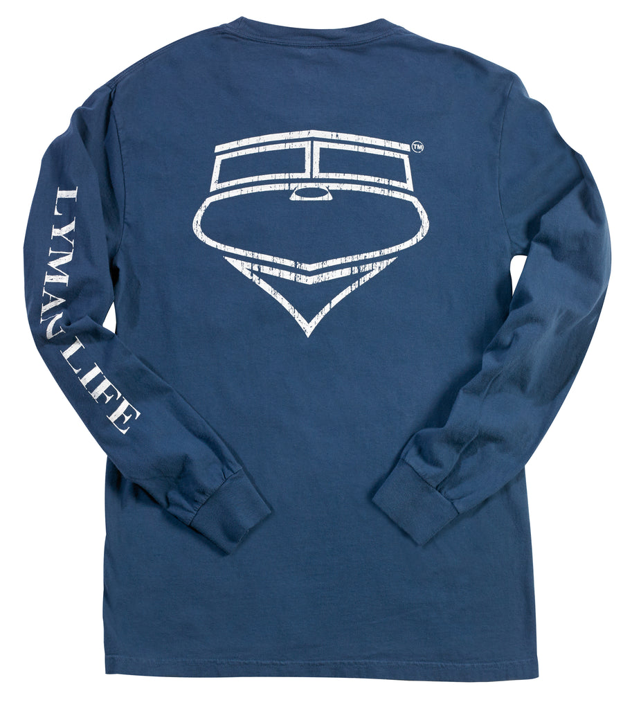 Long-Sleeve Lyman Life Vintage Signature Pocket Tee