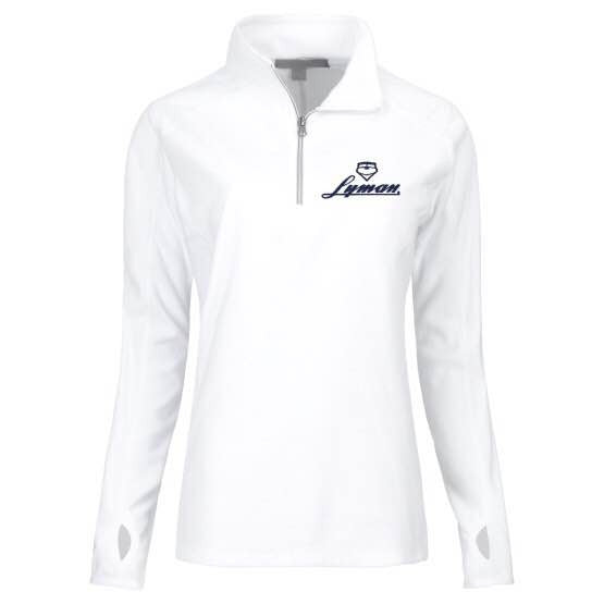 Women's White Fleece with Navy Embroidery