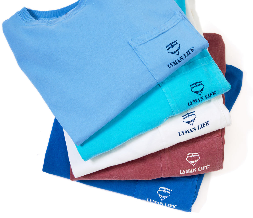 The New Long-Sleeve Lyman Life Vintage Signature Pocket Tee