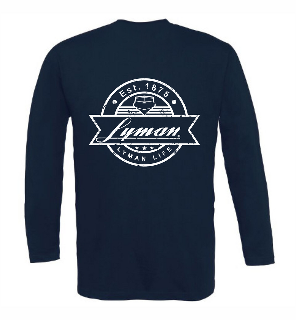 Long-Sleeved Lyman: Vintage Lyman Patch -Burnt Orange or Navy
