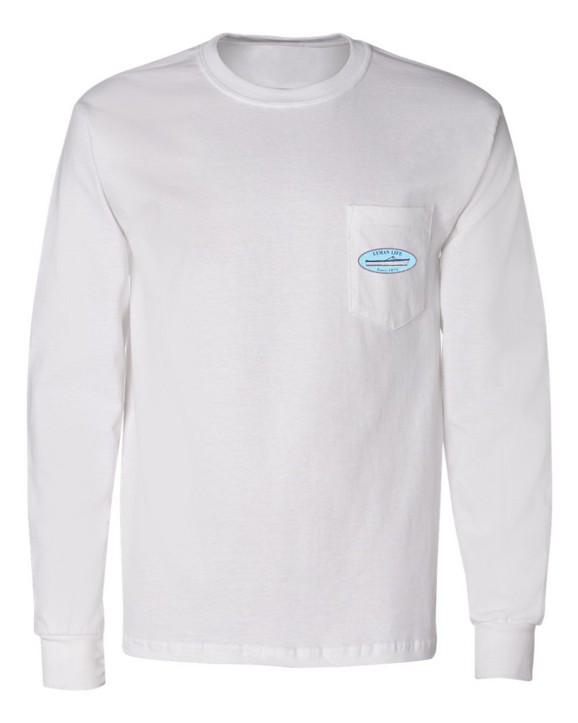 Lyman Life Retro Oval Long-Sleeve Pocket Tee