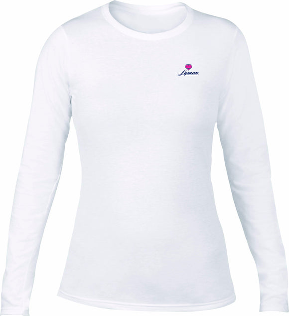 Lyman Women's Long Sleeve Pink Boat Fill Tee (XL ONLY)