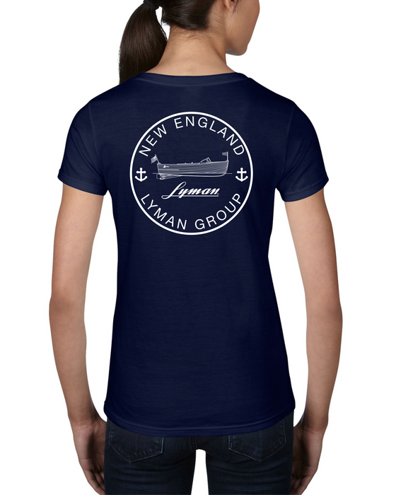 NELG Logo Short-Sleeve V-neck Ladies Tee