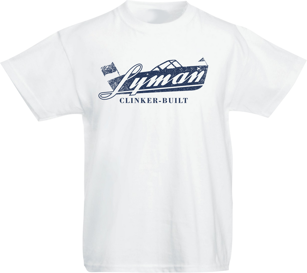 Lyman Kids' Tee (Navy, Light Blue, and White)