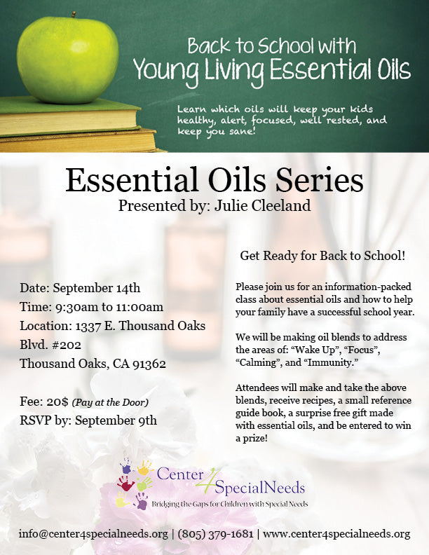 Essential Oils Series: Back to School – Center4SpecialNeeds