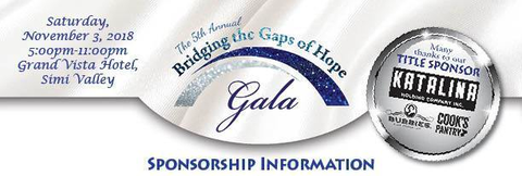 Bridging the Gaps of Hope Gala - Sponsorships