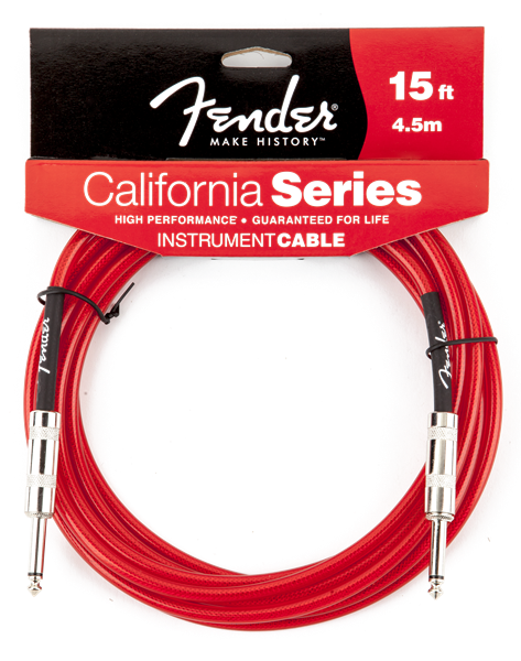 CALIFORNIA SERIES 15' INSTRUMENT CABLE, CANDY APPLE RED