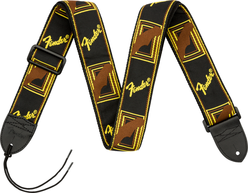 "Fender® 2"" Monogrammed Straps Black/Yellow"