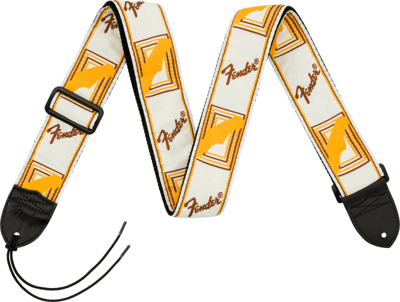 "2"" Monogrammed Straps White/Yellow"