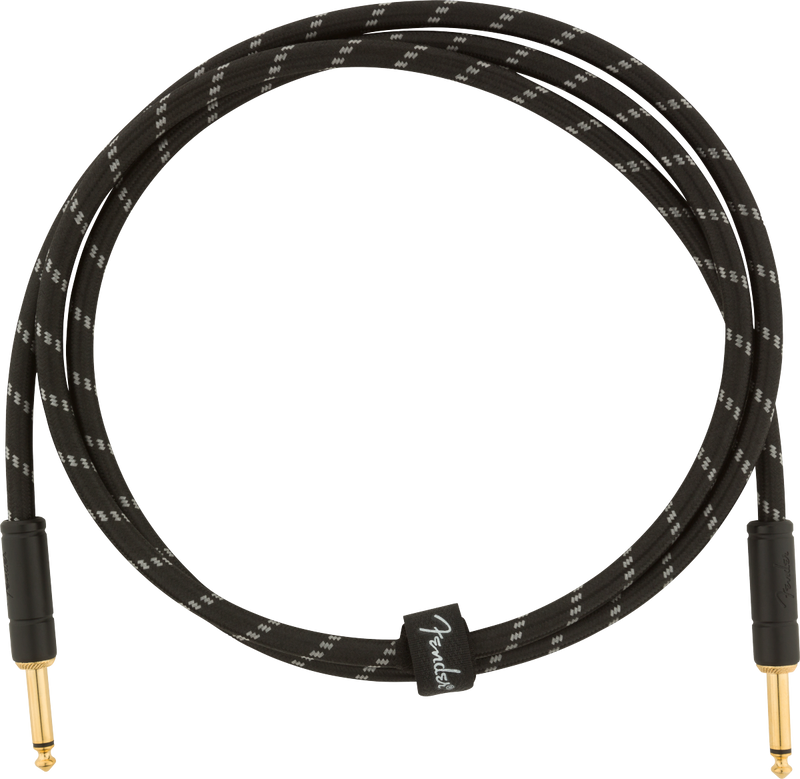 DELUXE 5' INSTRUMENT CABLE BLACK TWEED