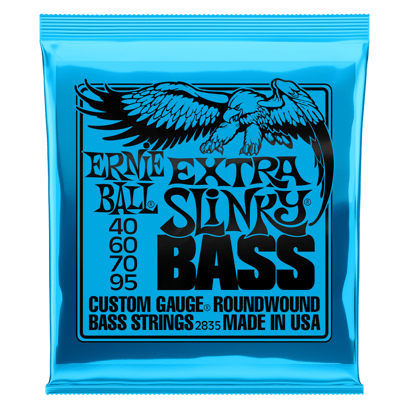 EXTRA SLINKY NICKEL WOUND ELECTRIC BASS STRINGS - 40-95