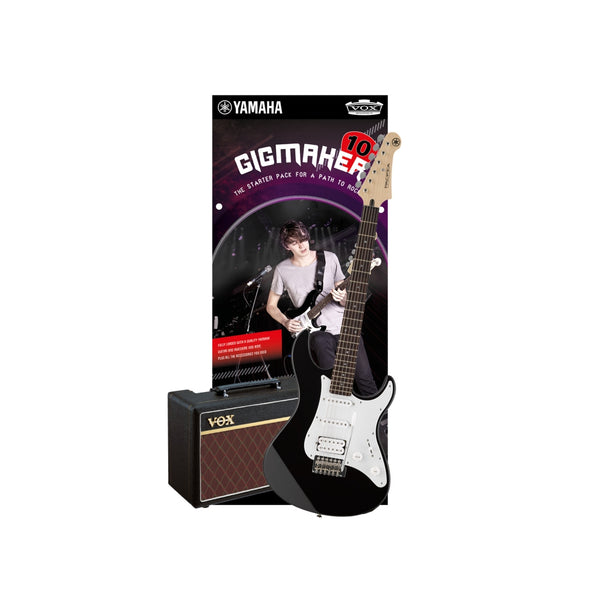 GIGMAKER10 BLACK ELECTRIC GUITAR PACK