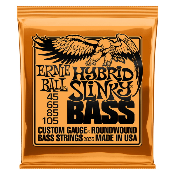 HYBRID SLINKY NICKEL WOUND ELECTRIC BASS STRINGS - 45-105