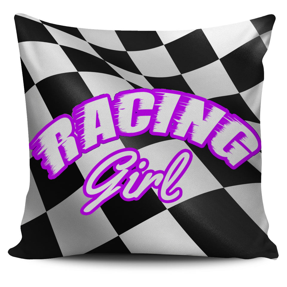 Racing Girl Pillow Covers