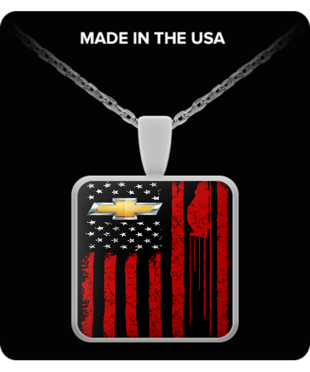 A Must Have - Chevy US Flag Necklace!