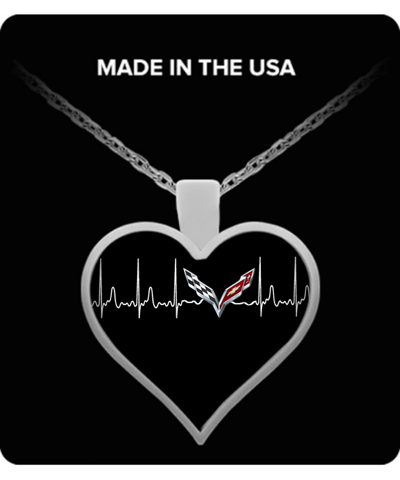 A Must Have - Corvette C7 Heartbeat Necklace!