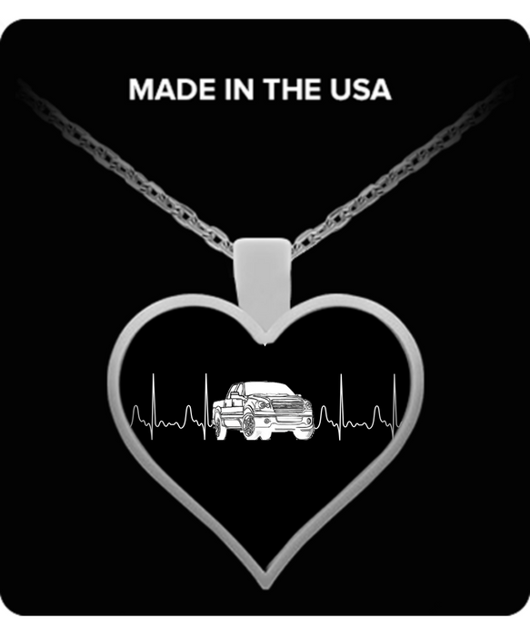 A Must Have - Ford Truck Heartbeat Necklace!