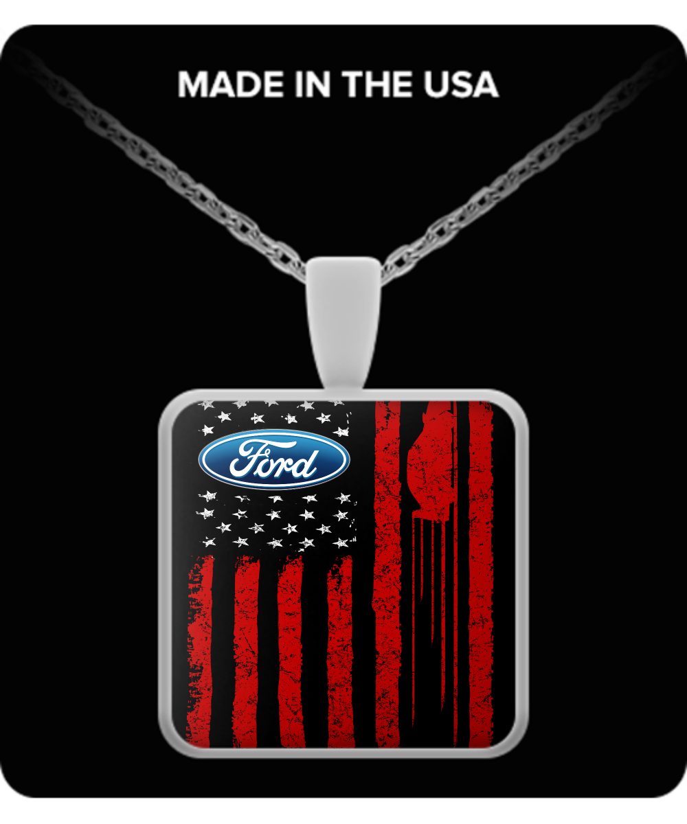 A Must Have - Ford US Flag Necklace!