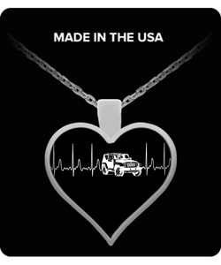 A Must Have - Jeep Heartbeat Necklace!