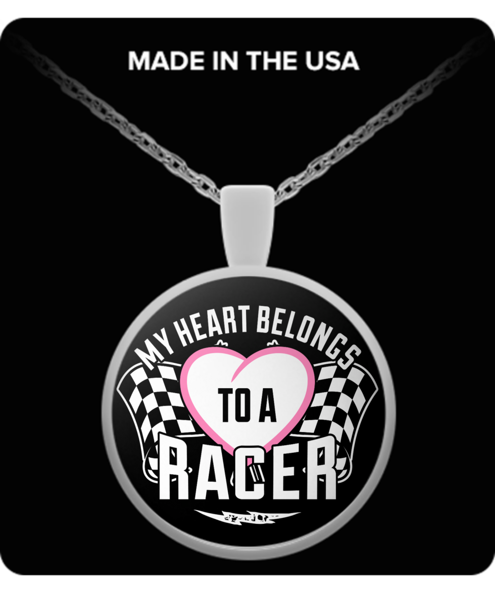 A Must Have - My Heart Belongs To a Racer Necklace!