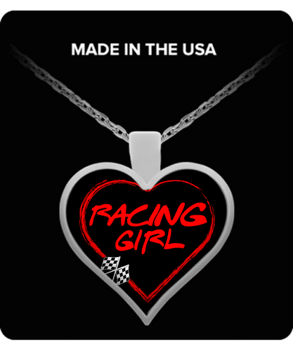A Must Have - Racing Girl Heart Necklace!