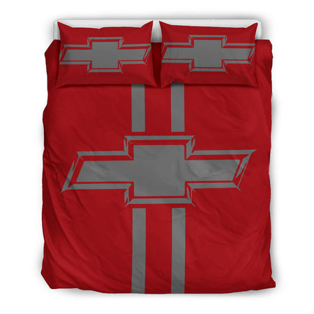 Chevy Bedding Set Red/Grey Darker With FREE SHIPPING