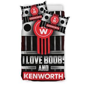 I Love Boobs And Kenworth Bedding Set With Free Shipping!