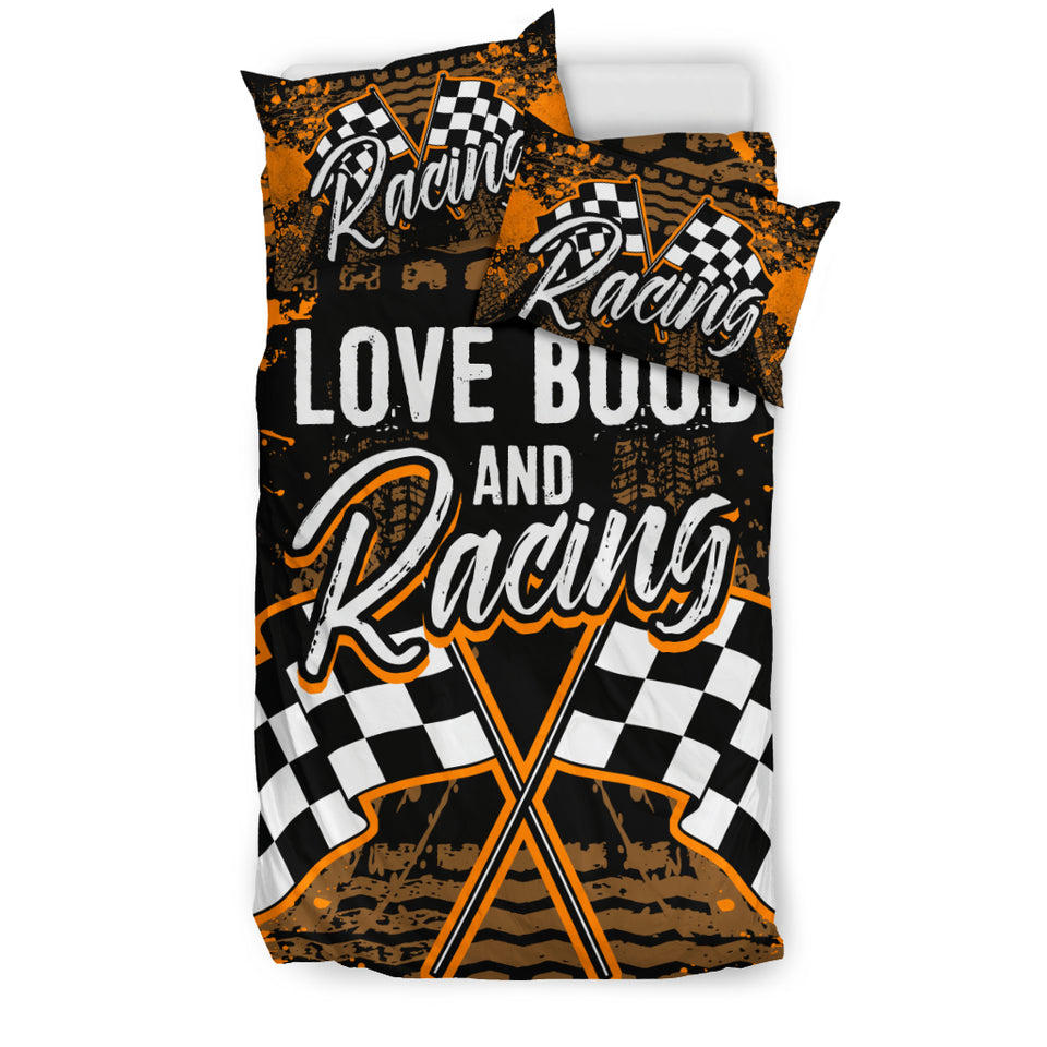 I Love Boobs And Racing Bedding Set With FREE SHIPPING!