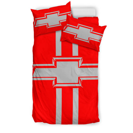 Chevy Bedding Set Red/Grey With FREE SHIPPING!