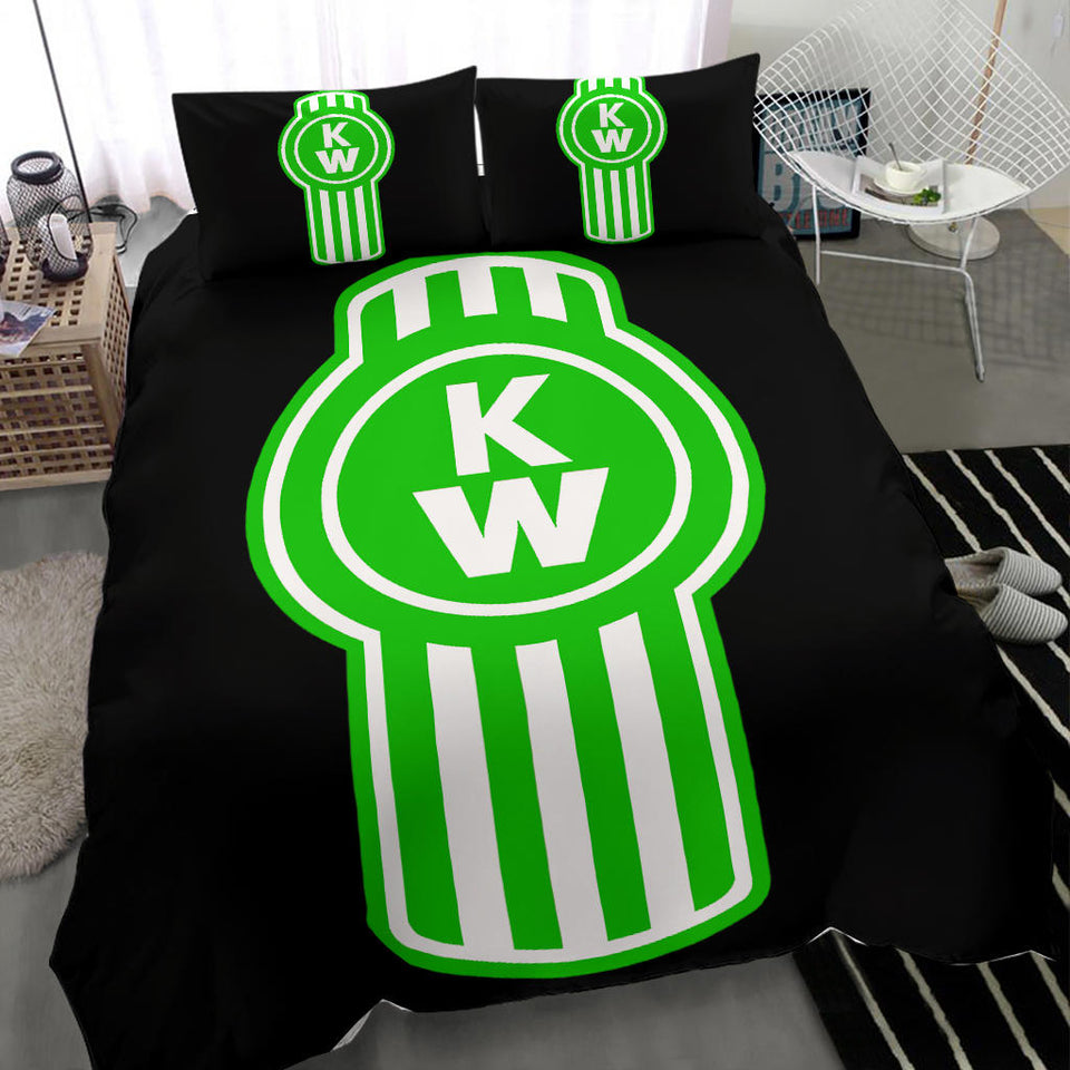 Kenworth Bedding Set Green Logo V1 With FREE SHIPPING!