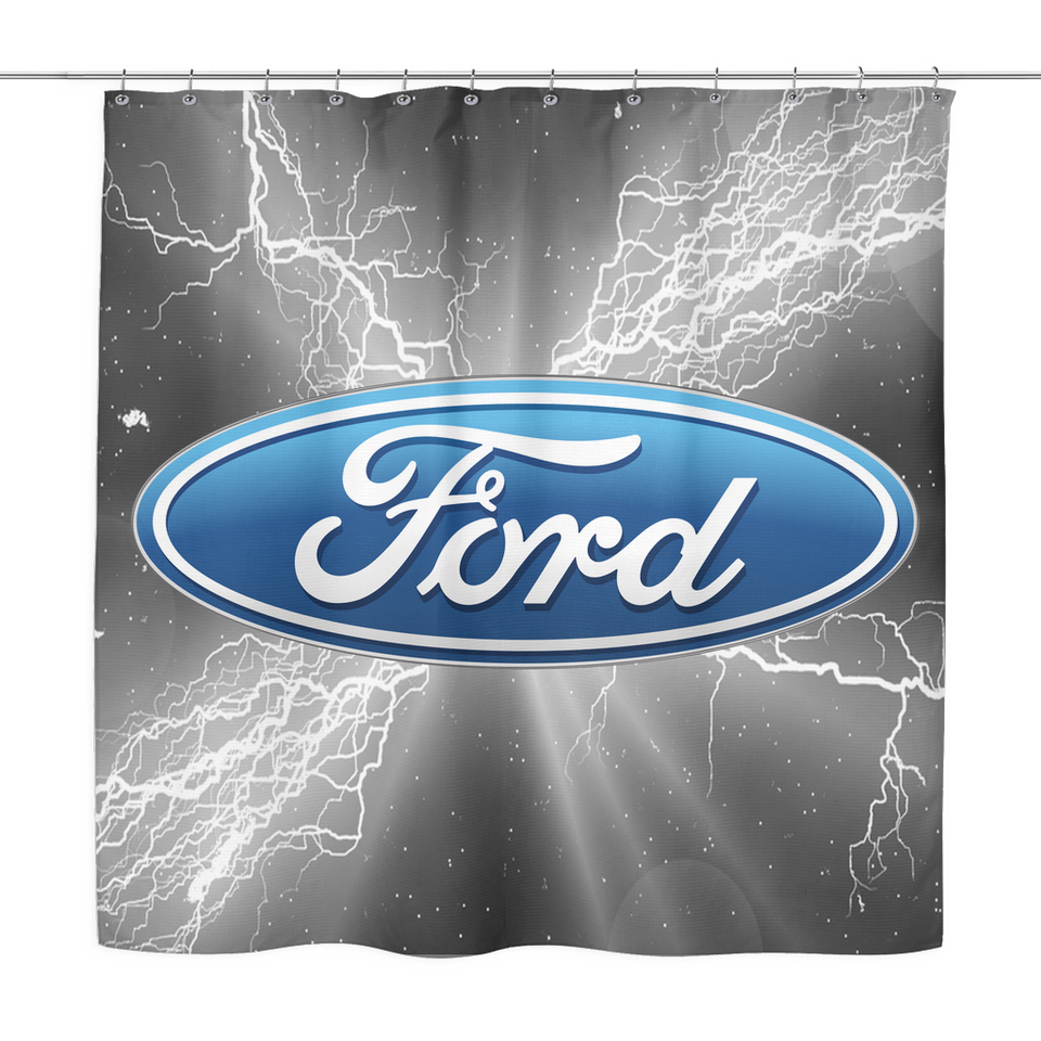 Ford Shower Curtain My Car Rules