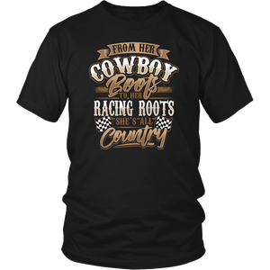 From Her Cowboy Boots, To Her Racing Roots She's All Country!