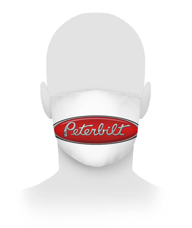 Peterbilt Cloth Face Mask White Cloth Face Mask