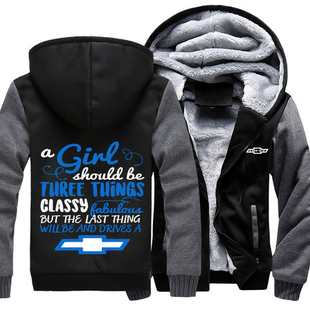 A Girl Should Be Three Things Chevy Jackets With FREE SHIPPING!