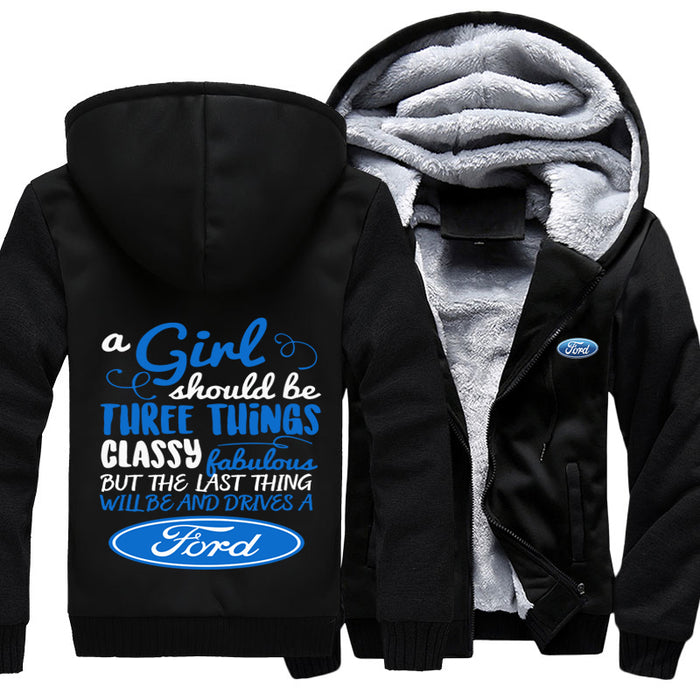 A Girl Should Be Three Ford Jacket With FREE SHIPPING TODAY!