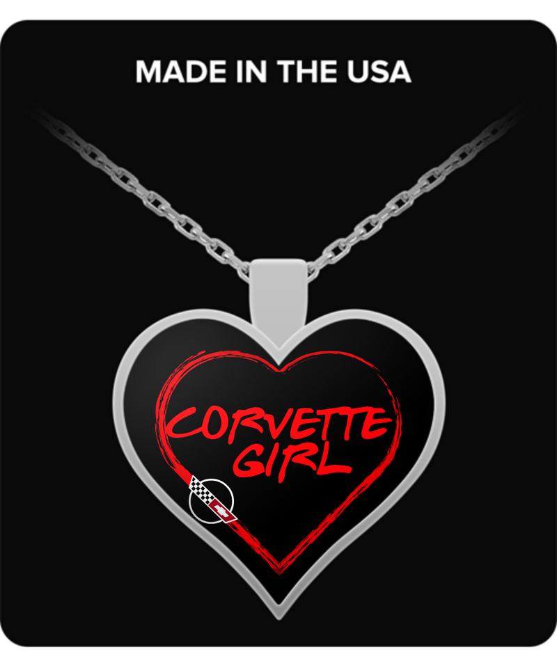 A Must Have - Corvette Girl C4 Heart Necklace!