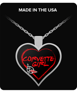 A Must Have - Corvette Girl C5 Heart Necklace!