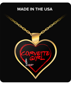 A Must Have Corvette Gold Plated Necklace!
