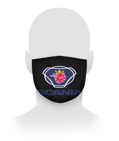 Scania Cloth Face Mask Black Cloth Face Mask