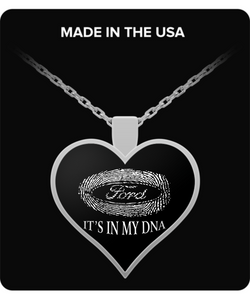 A Must Have - It's In My DNA Ford Heart Necklace!