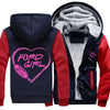 Super Warm Ford Girl Heart Jackets With FREE ShIPPING!