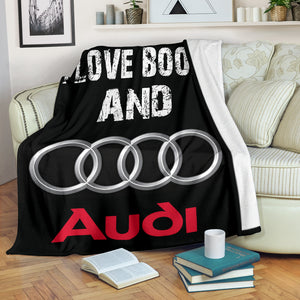 I Love Boobs And Audi Blanket With FREE SHIPPING!