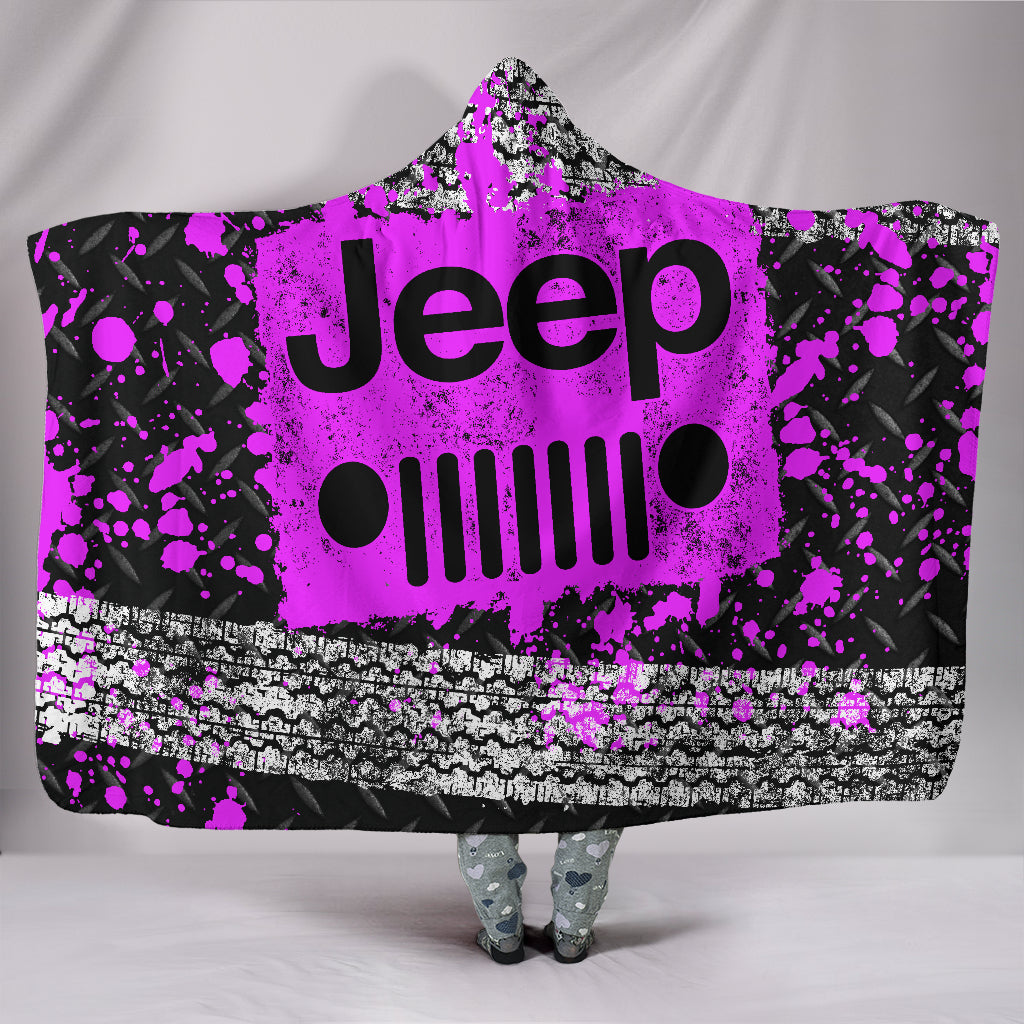 Jeep Hooded Blanket Pink With FREE SHIPPING TODAY!