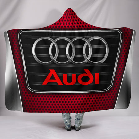Audi Hooded Blanket Red With FREE SHIPPING TODAY!