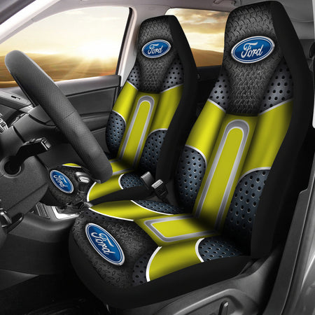 Ford 2 Front Seat Covers Yellow With FREE SHIPPING TODAY!