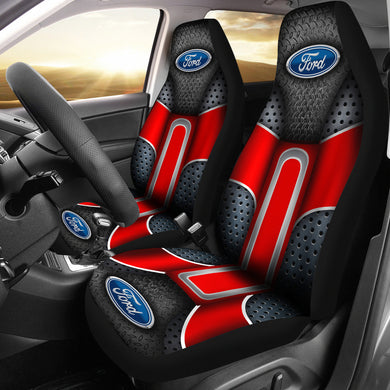 Ford 2 Front Seat Covers Red With FREE SHIPPING TODAY!