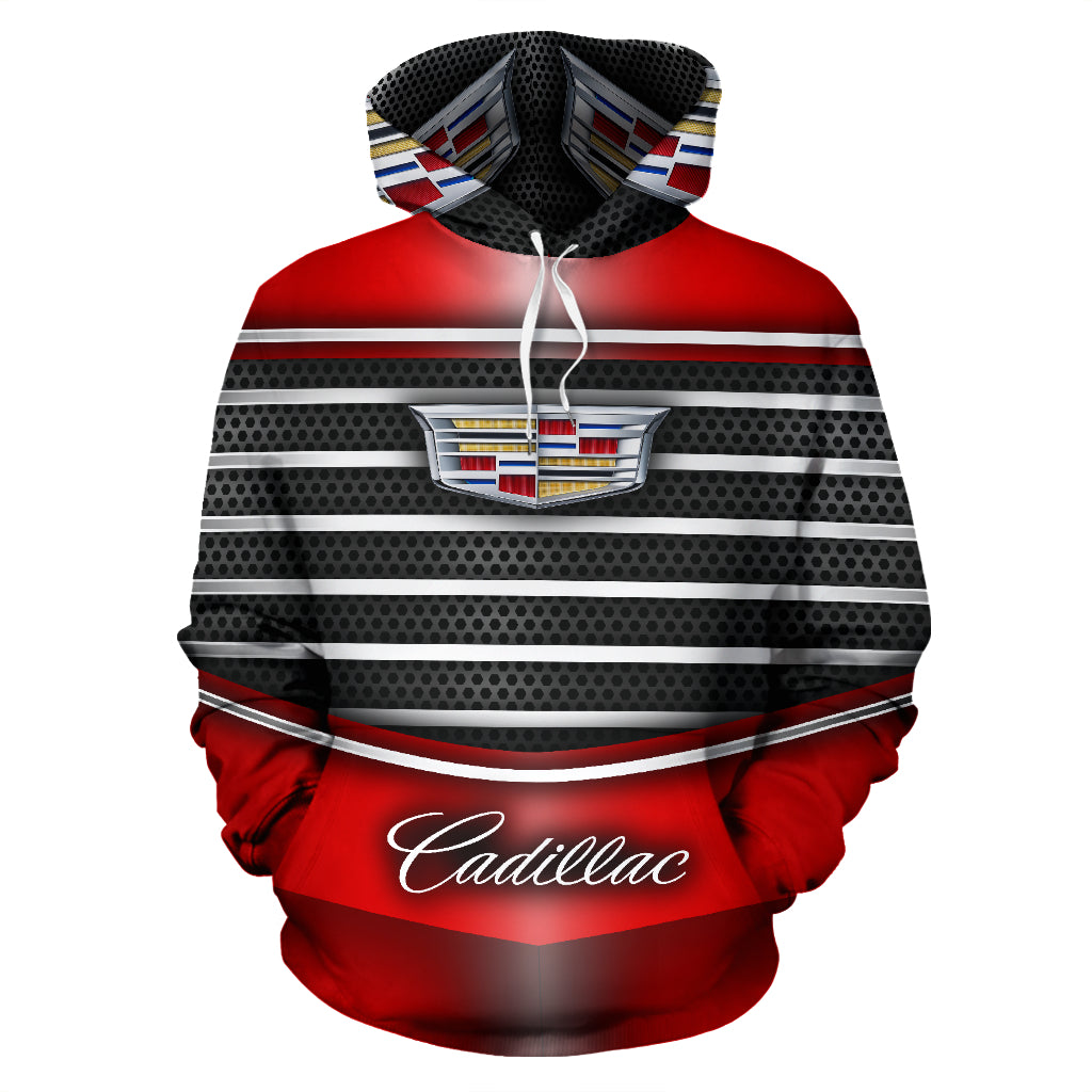 Cadillac All Over Print Hoodie With FREE SHIPPING TODAY!