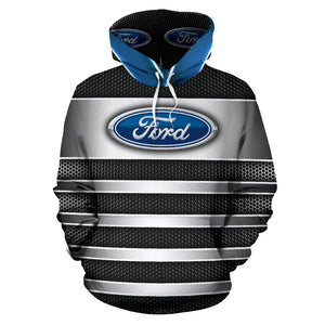 Ford All Over Print Hoodie With FREE SHIPPING TODAY!