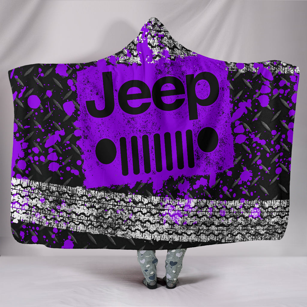 Jeep Hooded Blanket Purple Version With FREE SHIPPING TODAY!